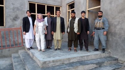 Kundus- die Sarwar Sharif Schule kurz vor der Fertigstellung